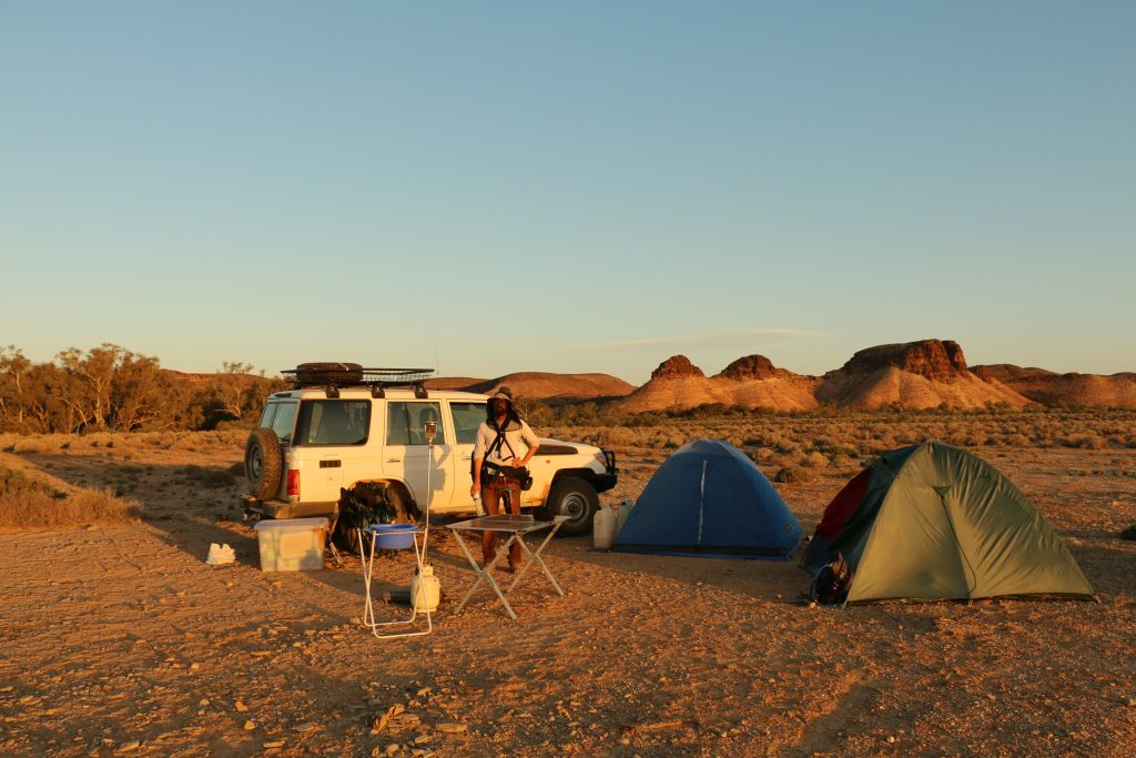 Camping out for field work in the northern Flinders Ranges